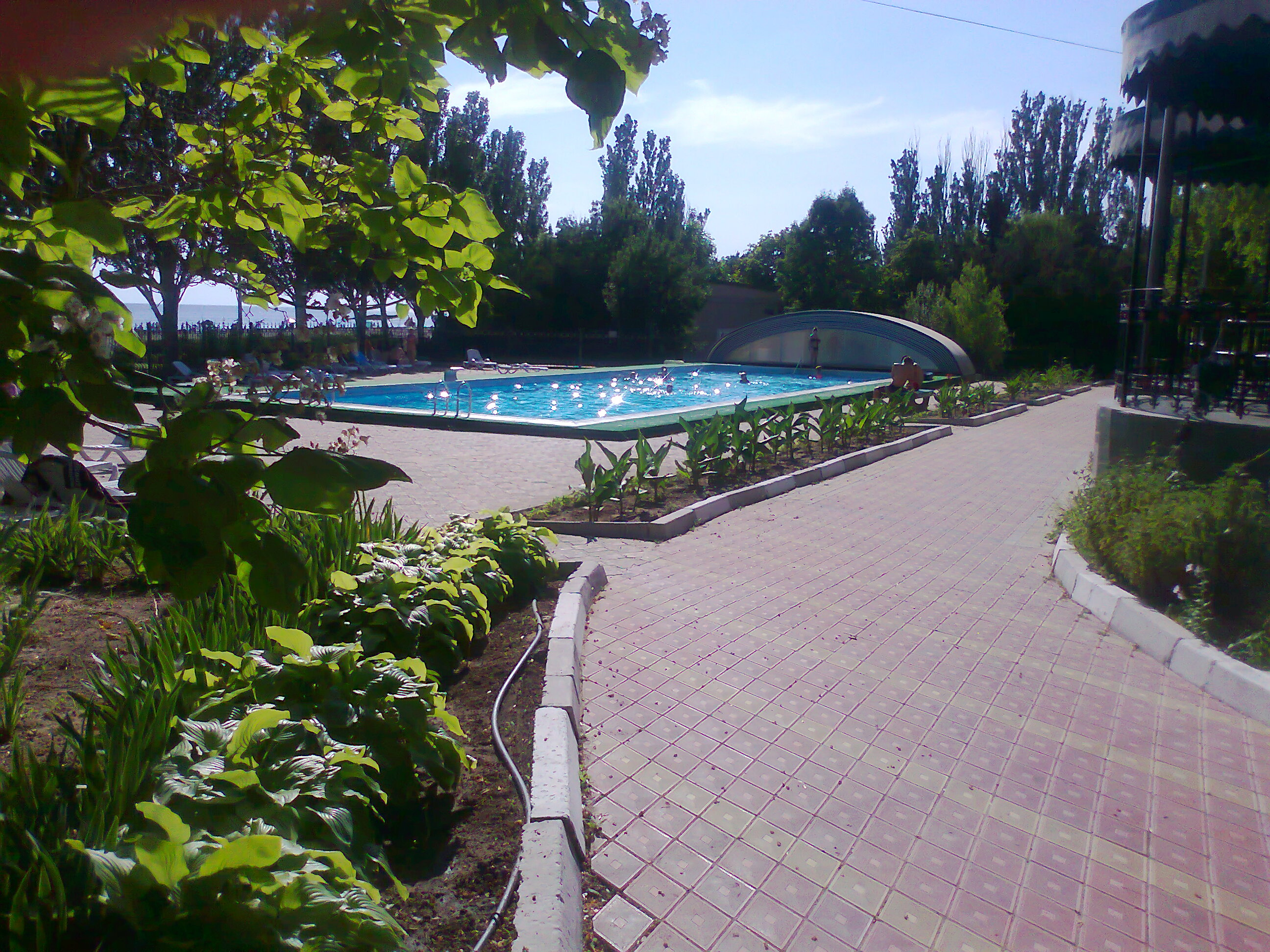 Территория санатория на Черном море Украина