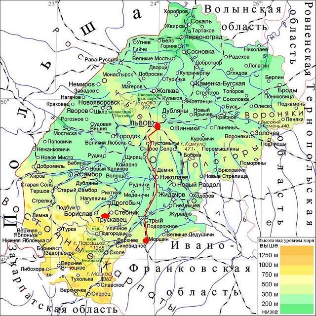 Карта Львовской обл.