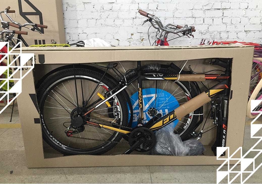 Упаковка велосипеда от Велотрейд