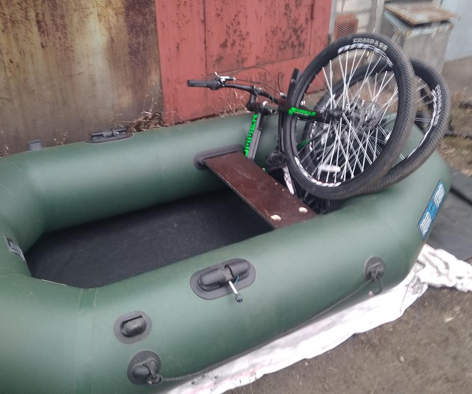 Велосипед в лодке ПВХ