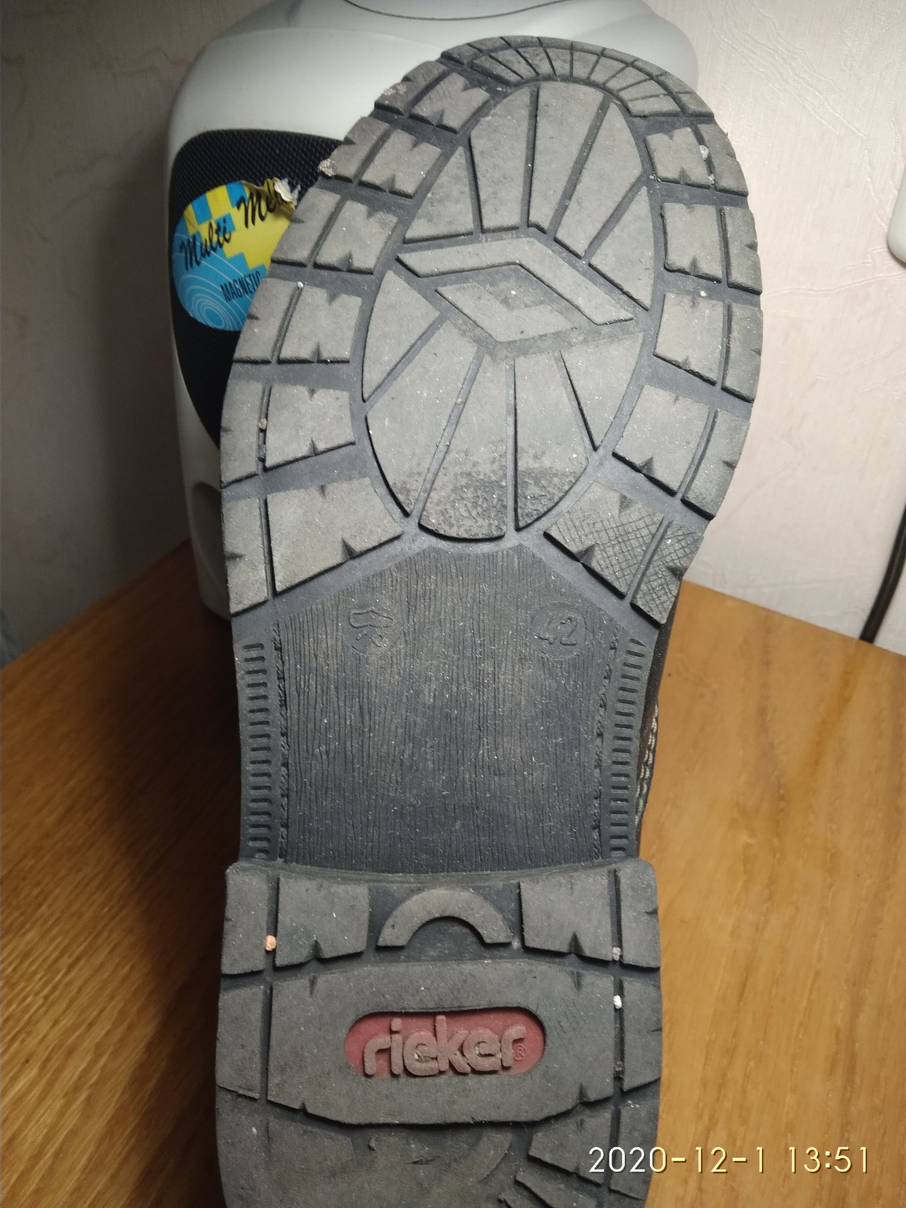 Подошва ботинок.