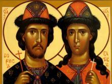 Два святых Борис и Глеб