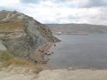Оползень в Крыму на пляже