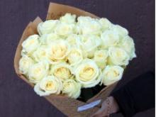 Белые розы. Букет из 60 роз.