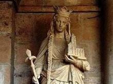 Бельгия. Скульптура  Анны Ярославны.