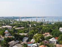 Вид на портовую Феодосию
